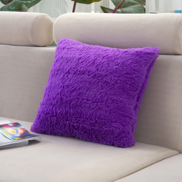 Plush throw pillow cover cushion case bed home sofa for Decorative bed pillow case