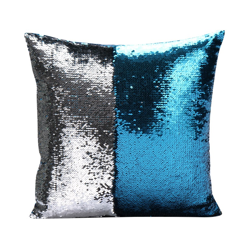 Reversible Sequin Mermaid Sofa Cushion Cover Double Sided