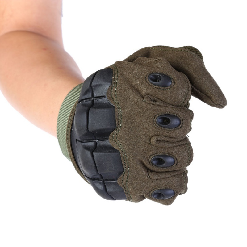 Men Military Army Full Finger Gloves Outdoor Touch Screen Tactical Hard Knuckle