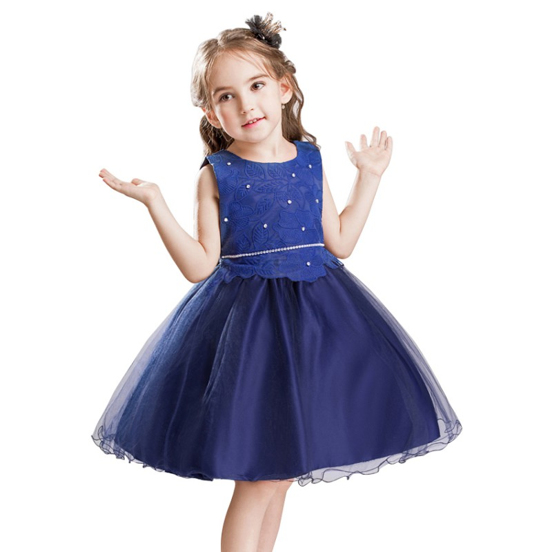 Flower Girl Dress Kids Birthday Wedding Bridesmaid Pageant Gown