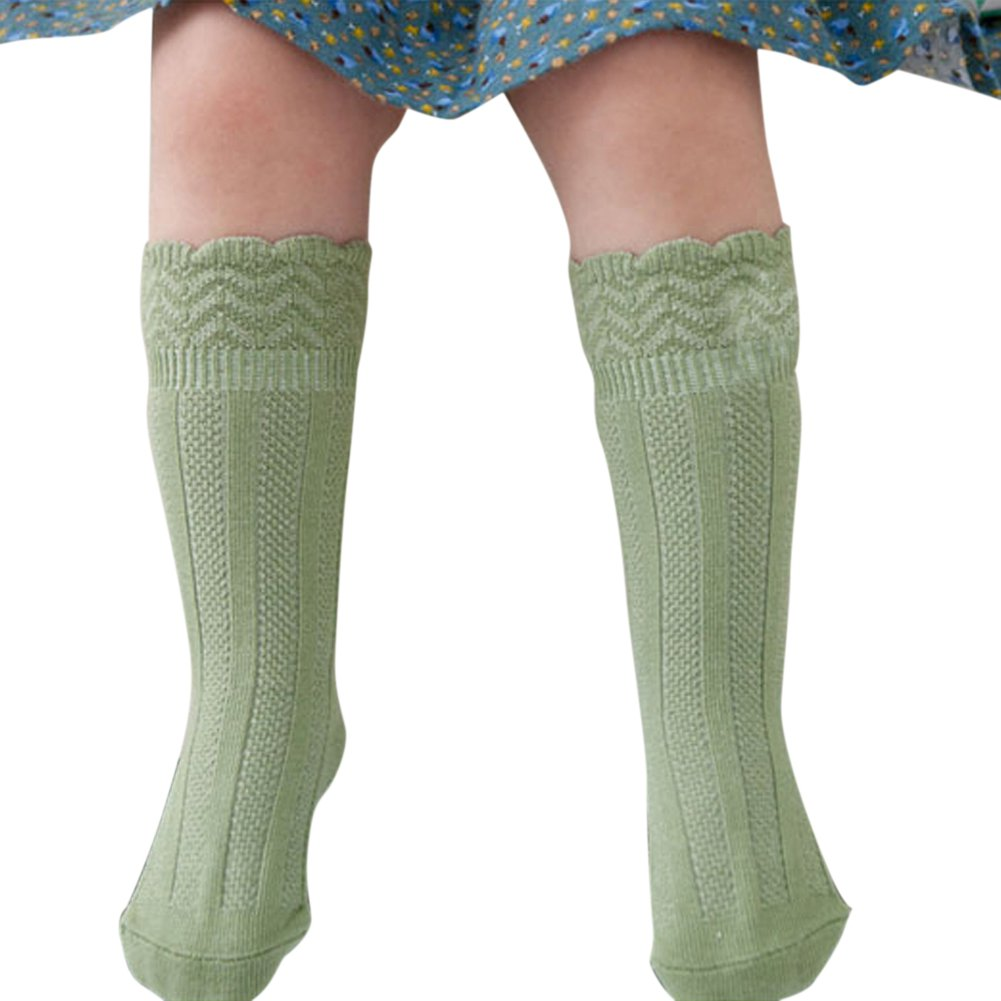 Chic New Kids Boy Girl Knee High Socks Toddler Cotton Lace