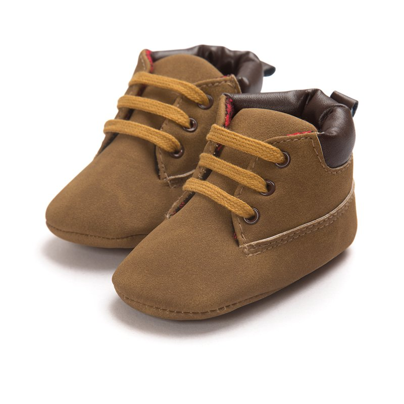 Baby Shoes Toddler Boys Girls Ankle Boots Lace-Up Crib ...