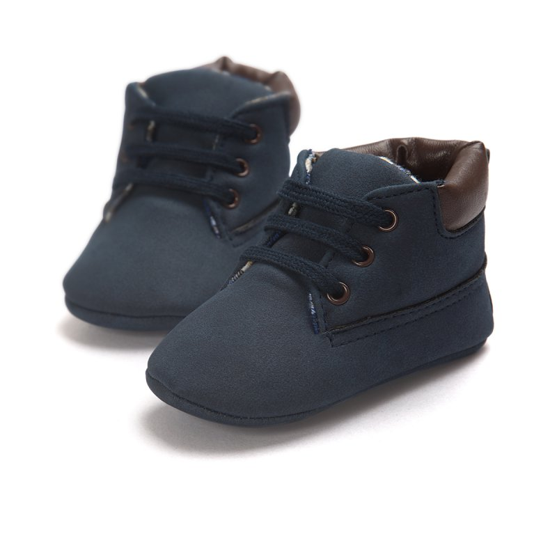 Baby Shoes Toddler Boys Girls Ankle Boots Lace Up Crib