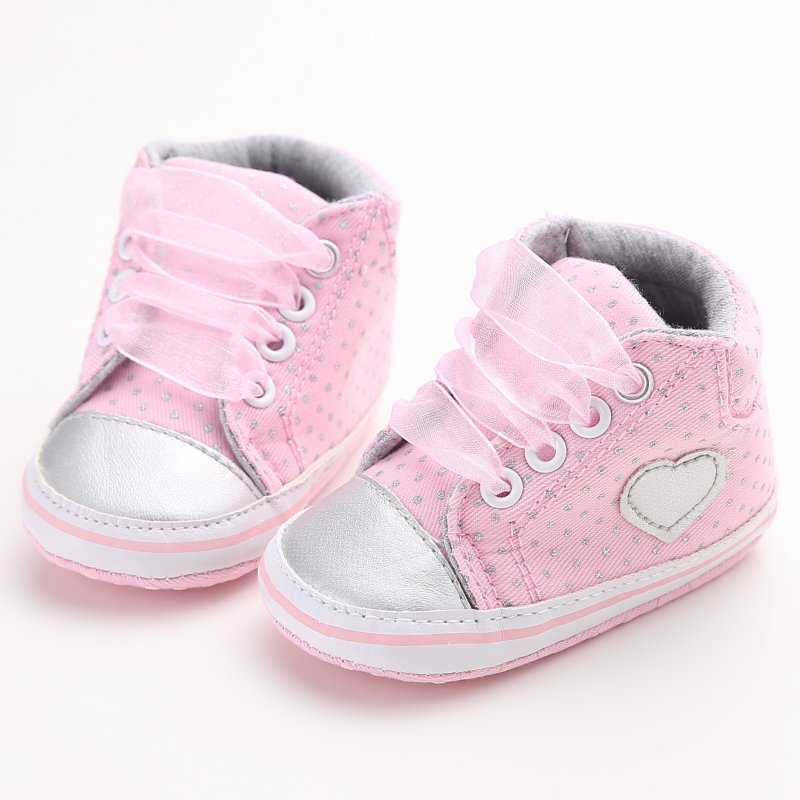 0 18M Infant Toddler Girls Baby Laces Sneakers Baby Crib