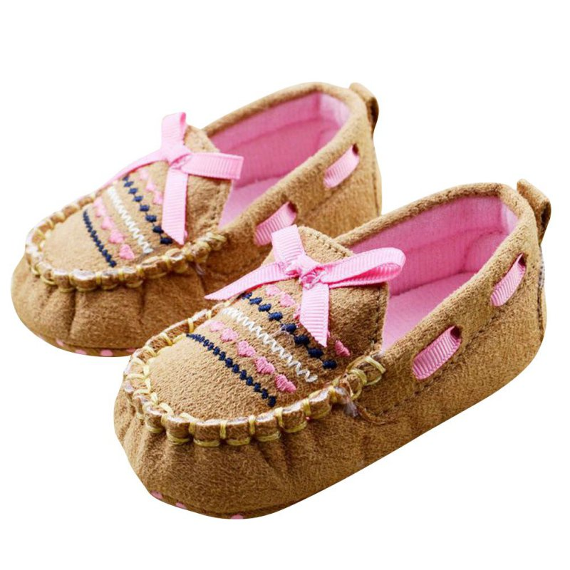 Cute Infant Baby Toddler Boy Girl Bow Soft Sole Handmade