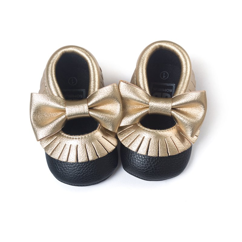 newborn baby soft sole leather crib shoes toddler