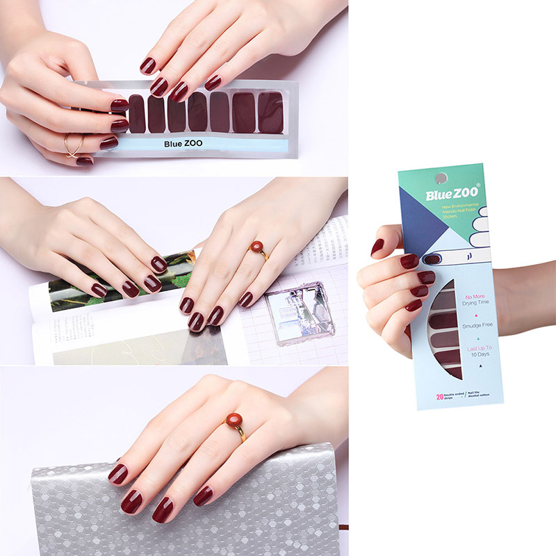 DIY Self-adhesive Nail Polish Foils Decals Stickers Patch Manicure ...