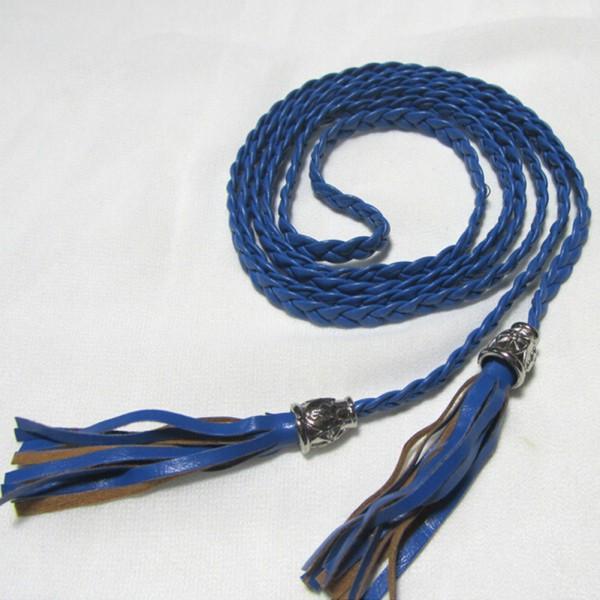 Women-Girl-Bohemian-Boho-Braid-Suede-Leather-Waistband-Belt-Tassel-Strap-Fashion