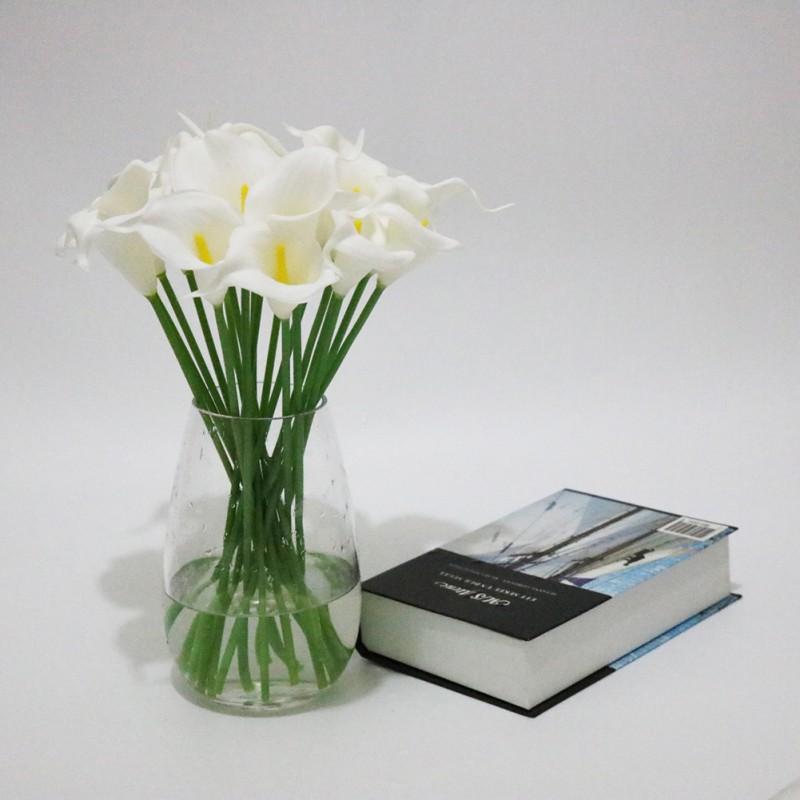Elegant Lifelike Real Artificial PU Calla Lily Flower Bouquet ...