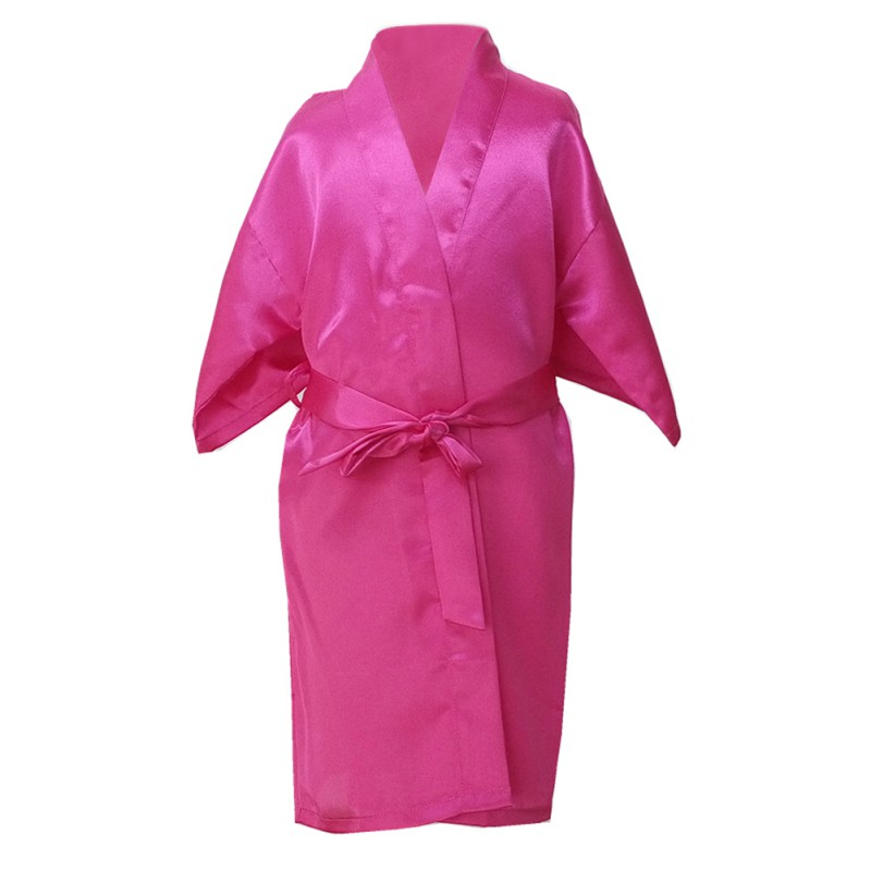 UK Kids Children Silk Satin Kimono Robes Dressing Gown Girl ...