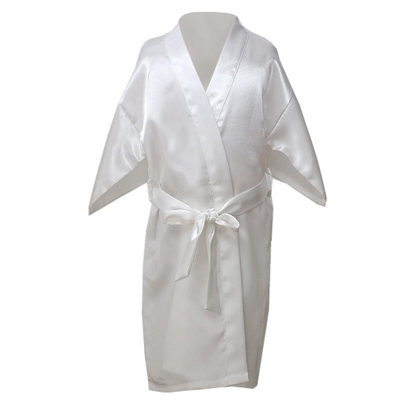 US Kids Baby Girls Silk Satin Kimono Robes Dressing Gown Sleepwear ...