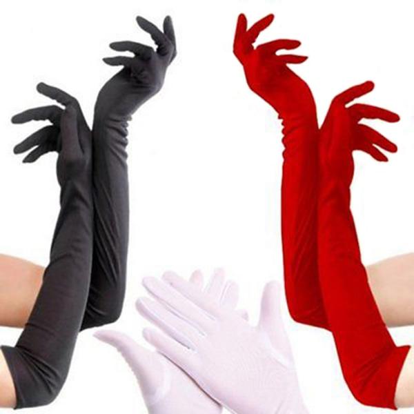 Wedding Dress Preservation Uv Protected: Women Long Elastic Satin Gloves Driving Sun Protection UV