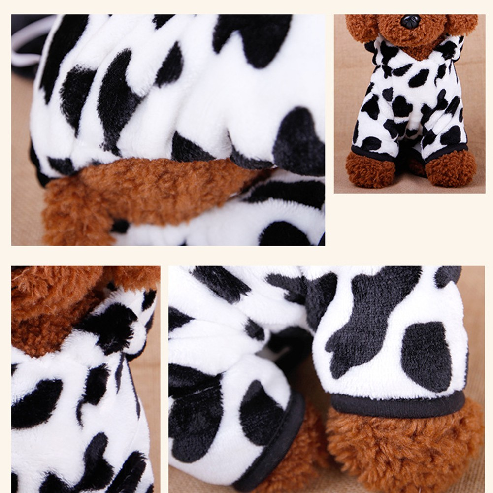 Cute-Pet-Dog-Cat-Dairy-Cow-Clothes-Funny-Puppy-Costume-Christmas-Hoodie-Dress-US thumbnail 6