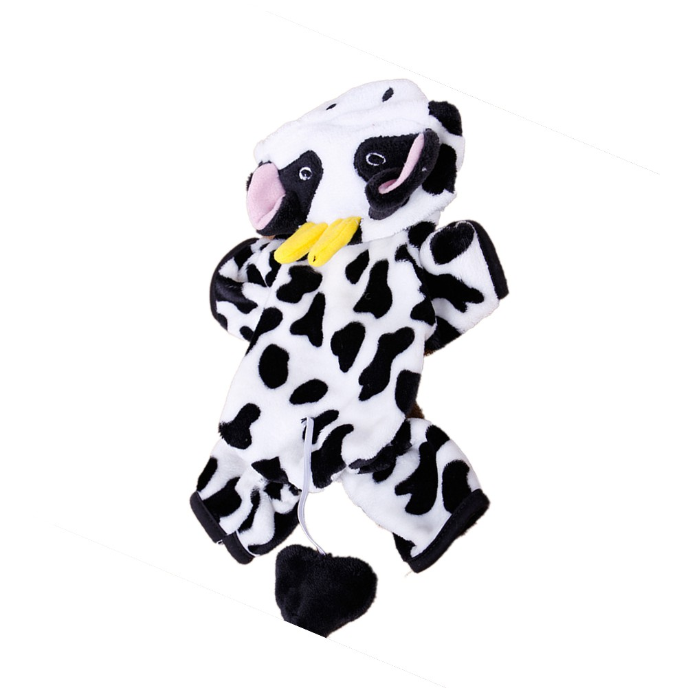 Cute-Pet-Dog-Cat-Dairy-Cow-Clothes-Funny-Puppy-Costume-Christmas-Hoodie-Dress-US thumbnail 3