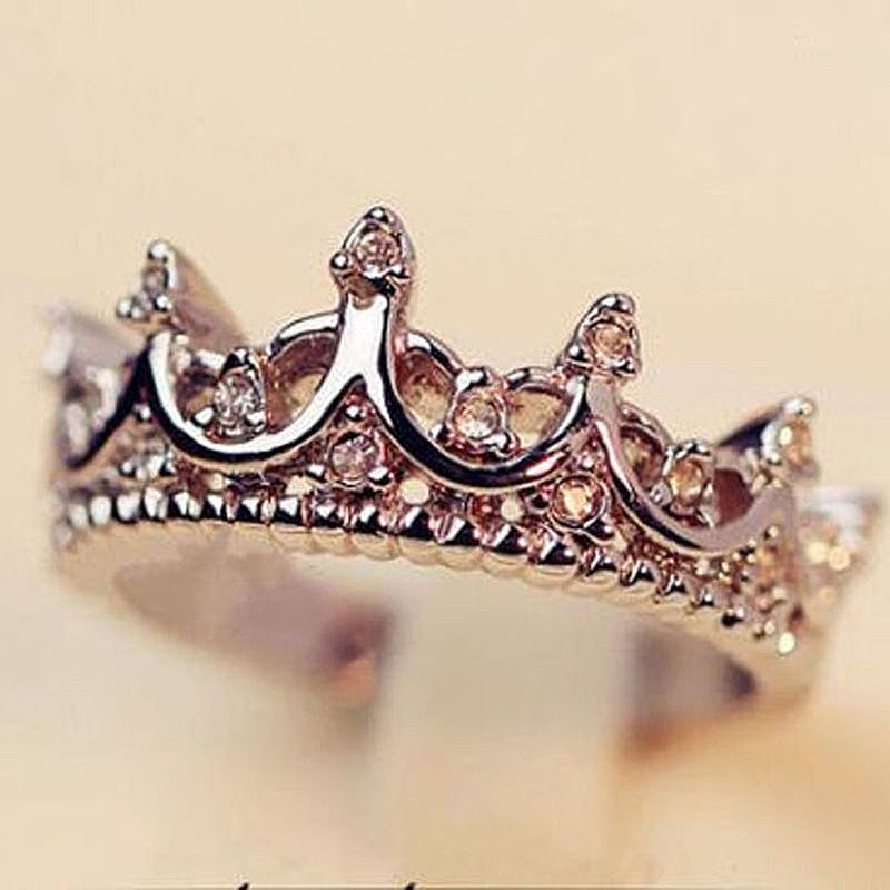 buy gold ring rose product plated princess or detail rings crown