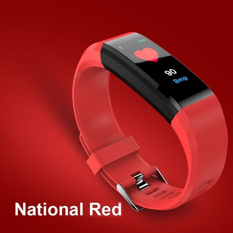 Smart Bracelet Heart Rate Monitor Blood Step Counter FitnessTracker Smart Watch