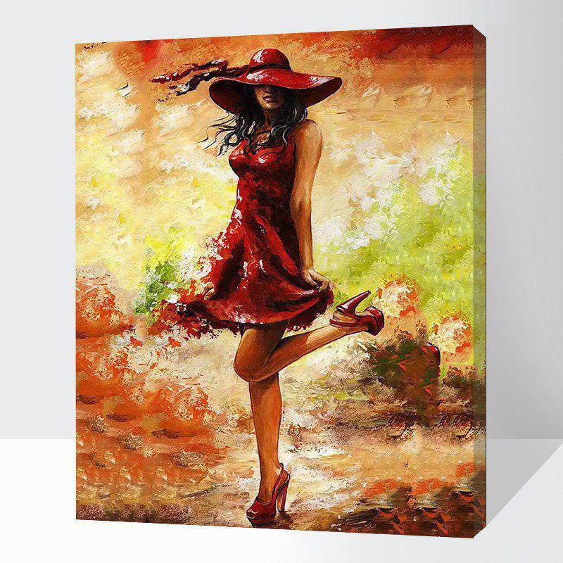 paint by number kit diy acrylic oil painting on canvas