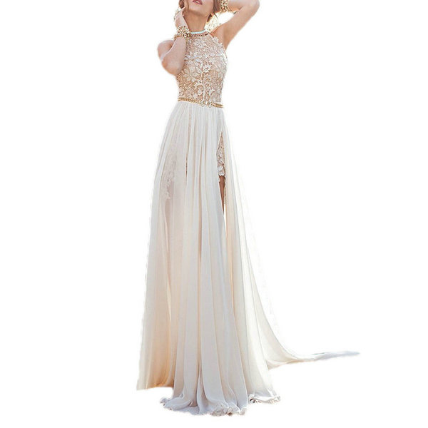 Women-Ladies-Long-Prom-Gown-Dress-Chiffon-Lace-Sleeveless-Wedding-Party-Cocktail
