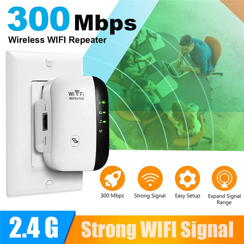 300Mbps Wireless WiFi Range Extender Repeater Signal Booster