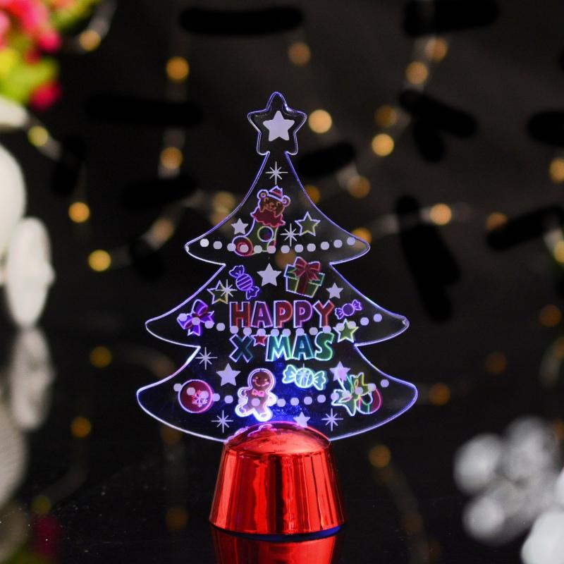 Christmas 3D Acrylic LED Night Light Xmas Santa Snowman