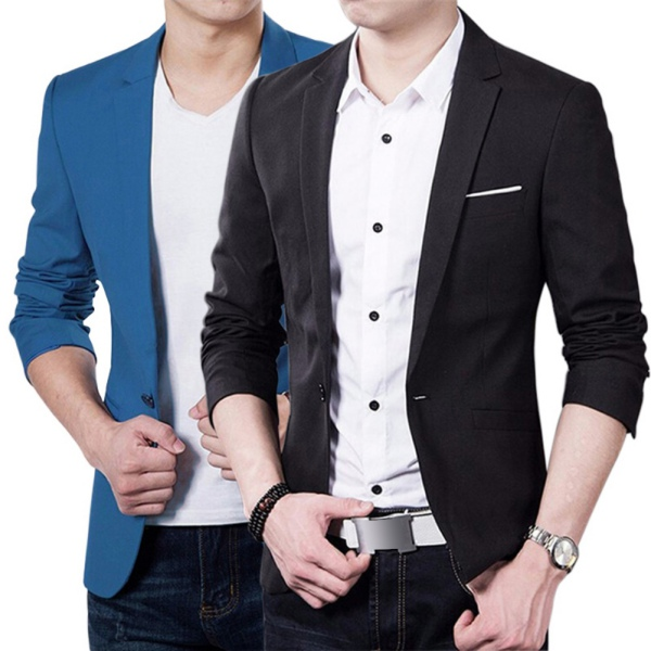 Fashion Stylish Men/'s Casual Slim Fit One Button Suit Blazer Coat Jacket Tops