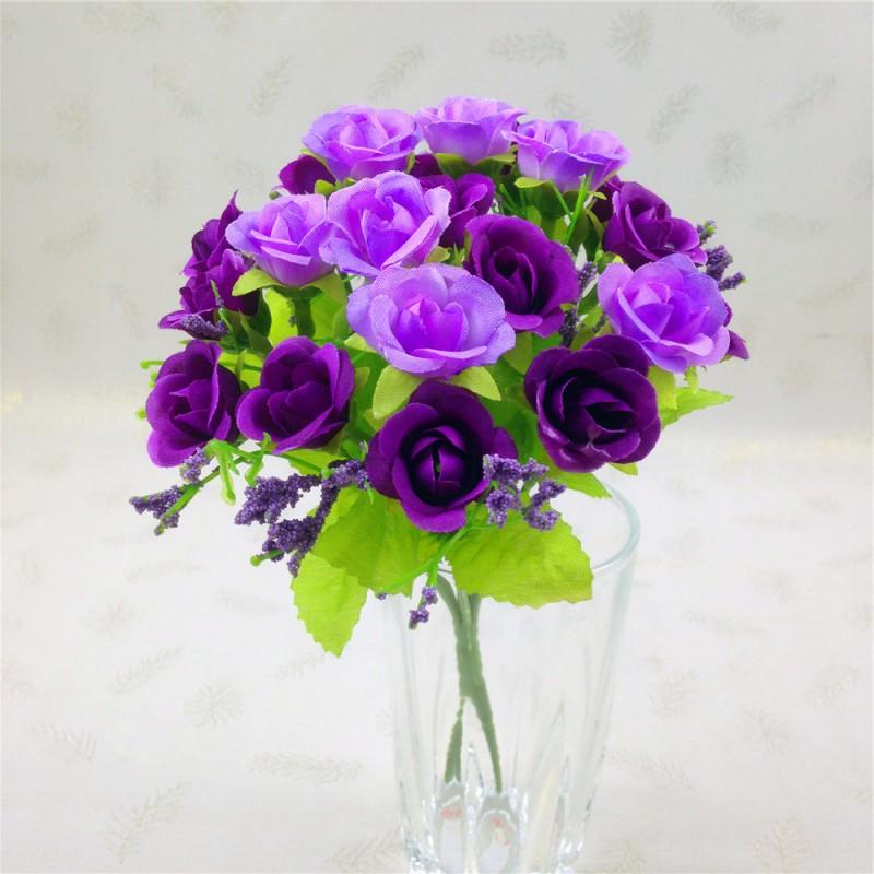US Artificial Silk Fake Flower Leaf Floral Wedding Bouquet Party ...