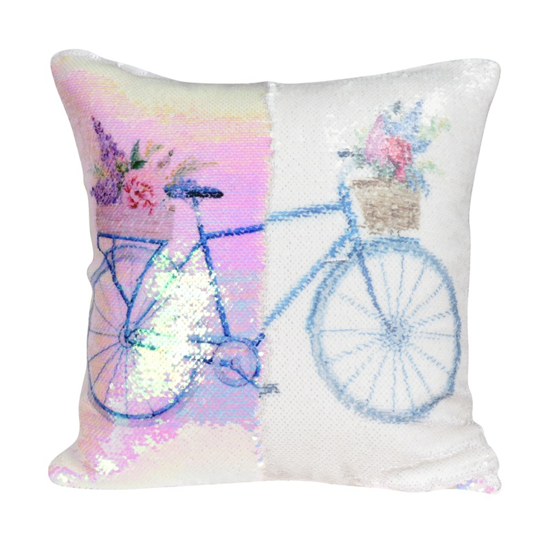 Sequin Mermaid Pillow Double Color Cushion Cover