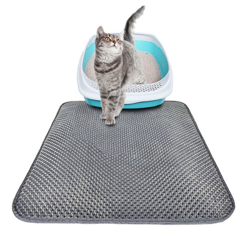 Cat litter Mat-Double Layer Pad-Large Flexible Trapping for