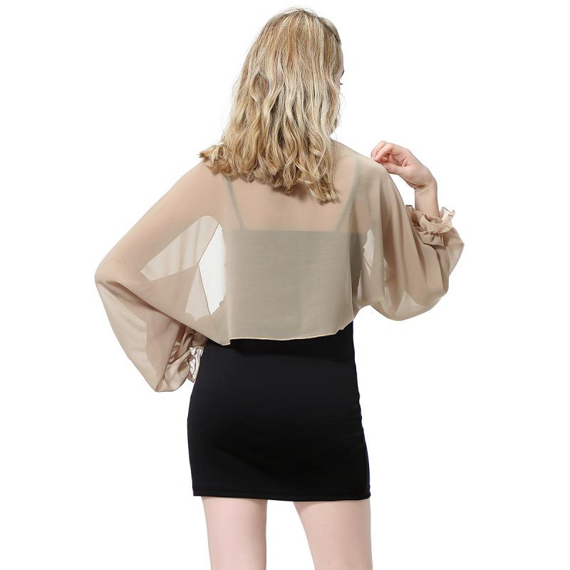 Womens-Long-Sleeve-Bolero-Shrug-Coat-Thin-Chiffon-Cropped-Cardigan-Top-Beach-Top thumbnail 20