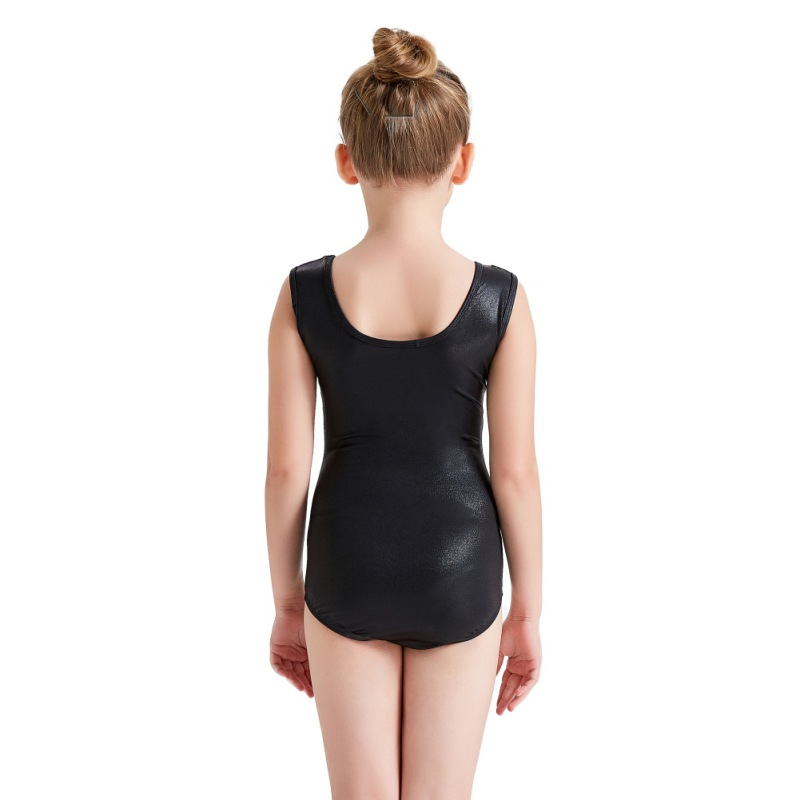 Youth-Girl-Ballet-Gym-Leotards-Flame-Print-Shiny-Sleeveless-Unitard-Skating-Suit thumbnail 16