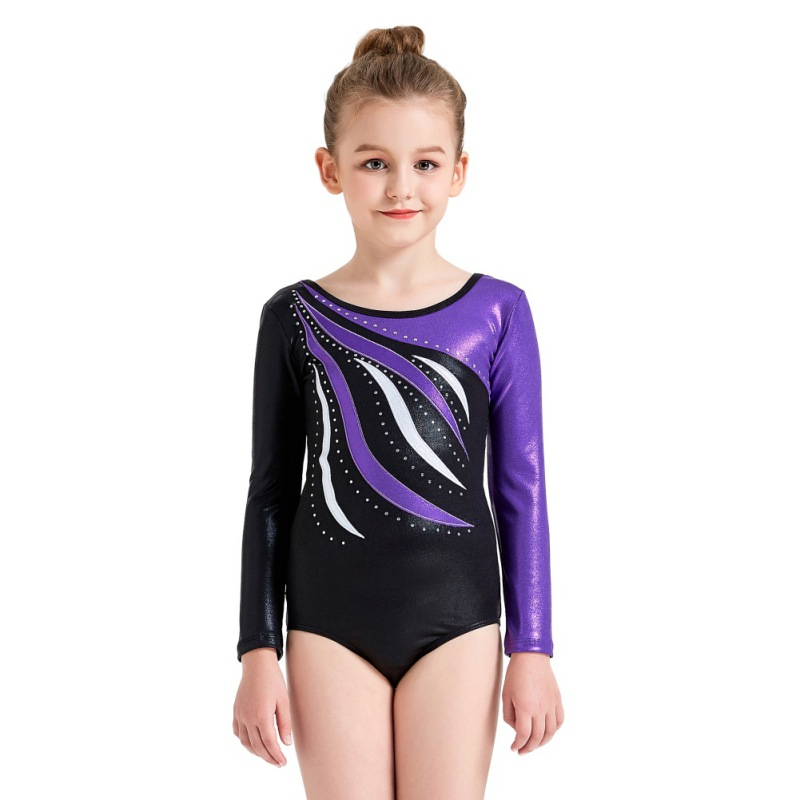 Youth-Girl-Ballet-Gym-Leotards-Flame-Print-Shiny-Sleeveless-Unitard-Skating-Suit thumbnail 33