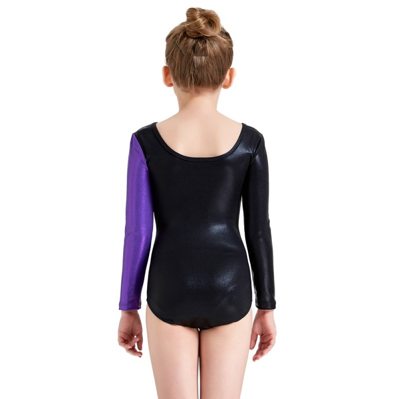 Youth-Girl-Ballet-Gym-Leotards-Flame-Print-Shiny-Sleeveless-Unitard-Skating-Suit thumbnail 34