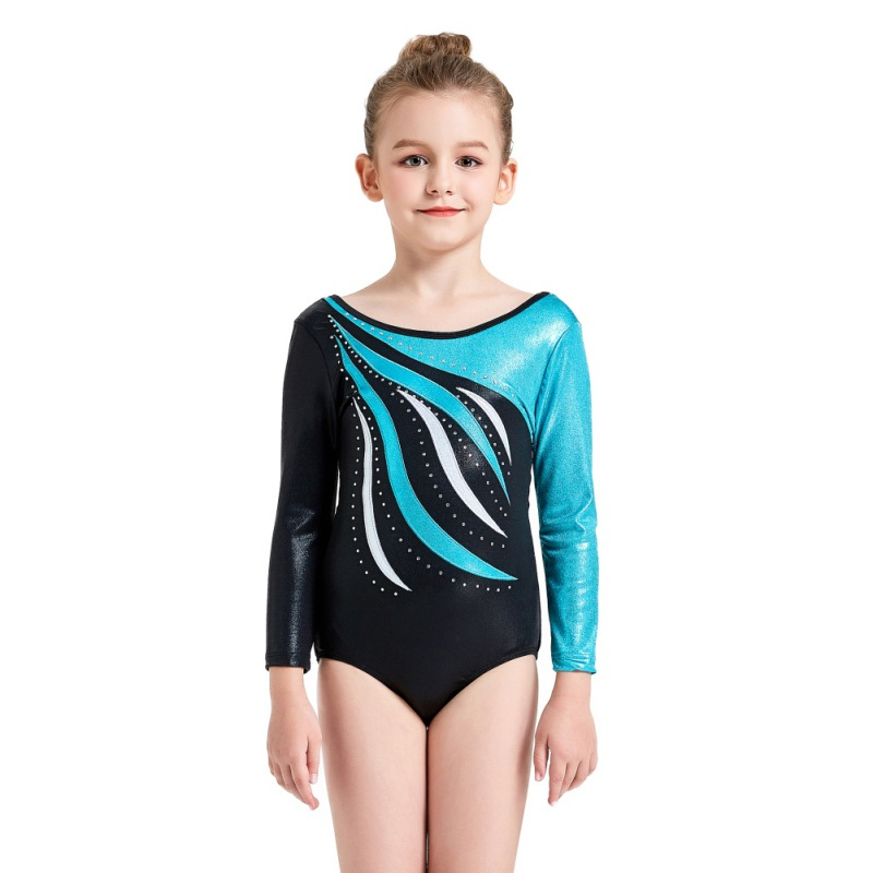 Youth-Girl-Ballet-Gym-Leotards-Flame-Print-Shiny-Sleeveless-Unitard-Skating-Suit thumbnail 30