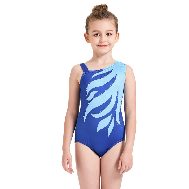 Youth-Girl-Ballet-Gym-Leotards-Flame-Print-Shiny-Sleeveless-Unitard-Skating-Suit thumbnail 18