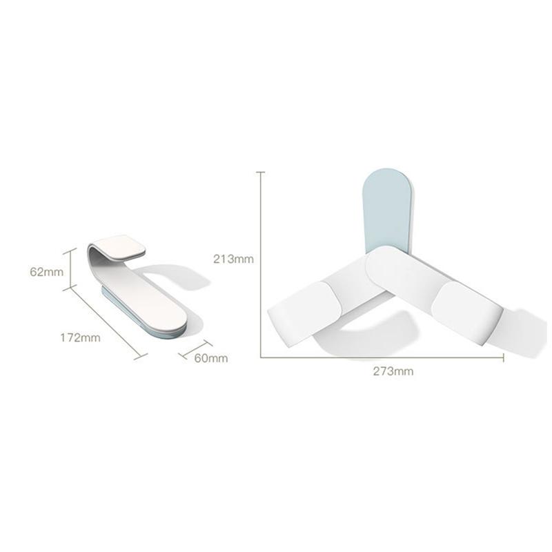 Kitchen-Rotatable-Pot-Storage-Rack-Folding-Wall-mounted-Storage-Sticky-Hangers thumbnail 10
