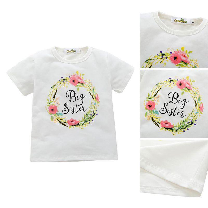 Baby Mädchen kleine große Schwester Strampler Bodysuit Overall Kleidung Outfit