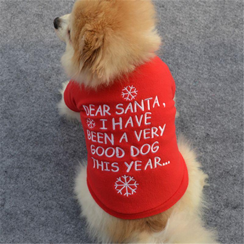 Pet-Dog-Santa-Shirt-Puppy-Christmas-Clothes-Warm-Jacket-Coat-Apparel-Costumes-US thumbnail 18