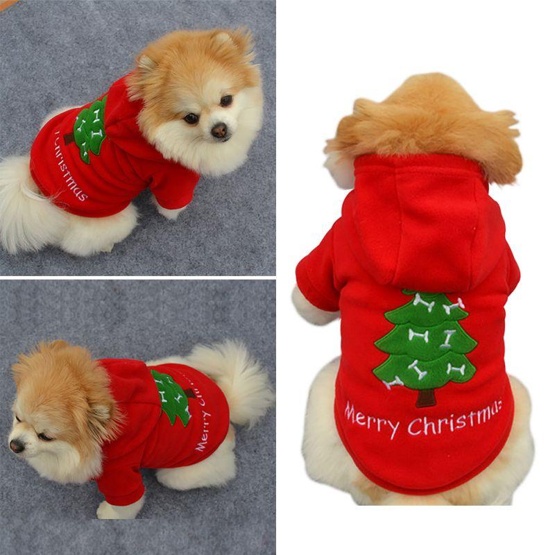 Pet-Dog-Santa-Shirt-Puppy-Christmas-Clothes-Warm-Jacket-Coat-Apparel-Costumes-US thumbnail 22