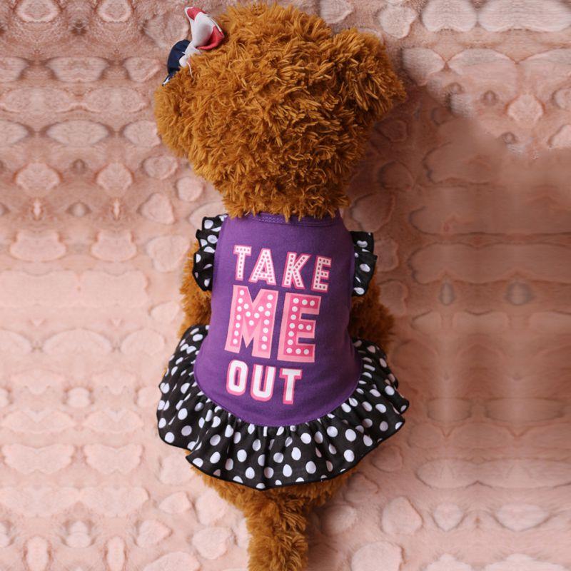 Small Dog Cat Pet Princess Clothes Puppy Bow Vest T Shirt Coat Dress Apparel