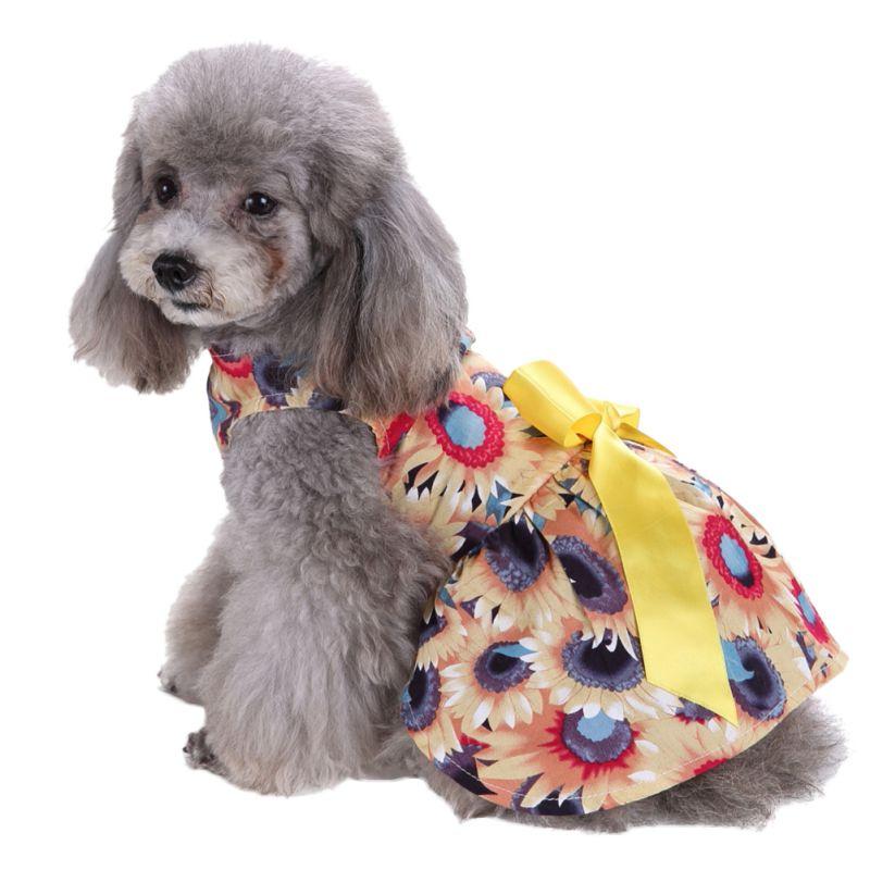 Hot-Pet-Dog-Polyester-Floral-Dress-Summer-Clothes-Puppy-Cat-Tutu-Skirt-Apparel thumbnail 12