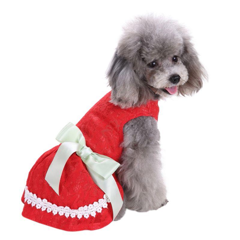 Hot-Pet-Dog-Polyester-Floral-Dress-Summer-Clothes-Puppy-Cat-Tutu-Skirt-Apparel thumbnail 16