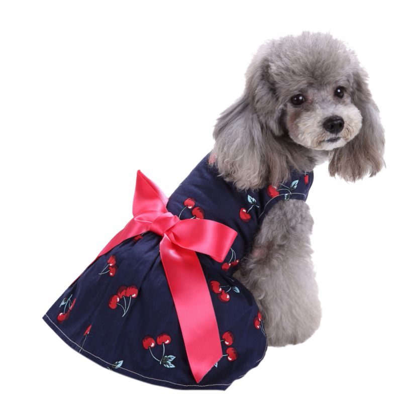 Hot-Pet-Dog-Polyester-Floral-Dress-Summer-Clothes-Puppy-Cat-Tutu-Skirt-Apparel thumbnail 20