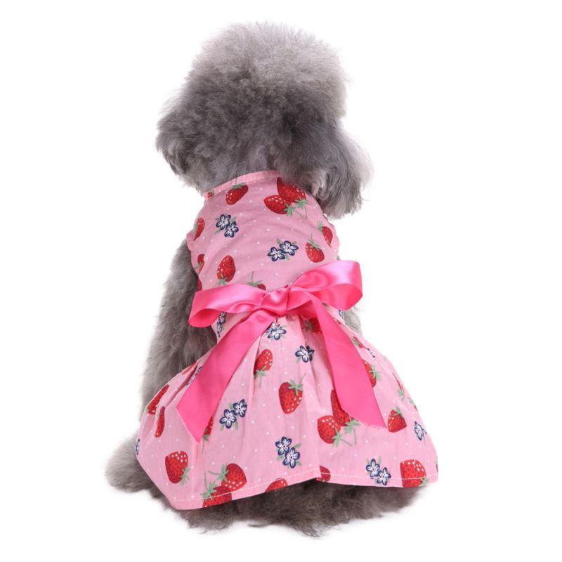 Hot-Pet-Dog-Polyester-Floral-Dress-Summer-Clothes-Puppy-Cat-Tutu-Skirt-Apparel thumbnail 18