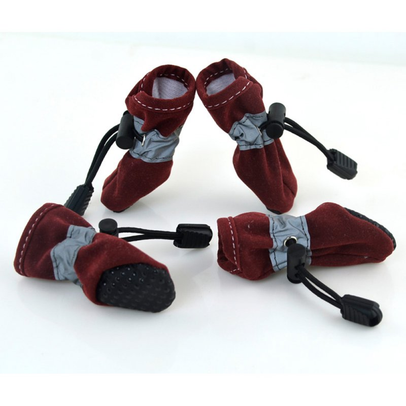 4Pcs-Pet-Dog-Winter-Rain-Boots-Puppy-Protective-Sports-Anti-Slip-Shoes-Sneaker thumbnail 13