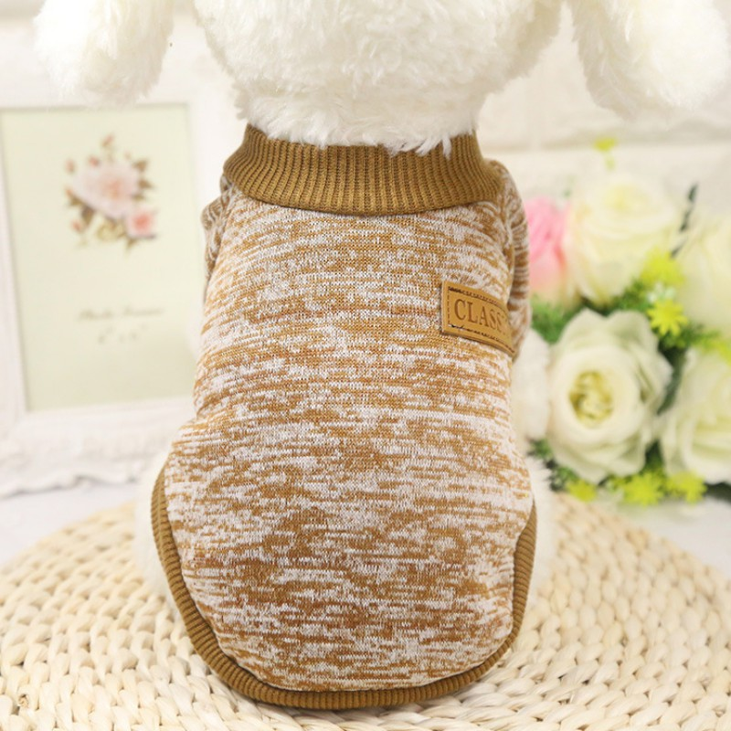 Small-Pet-Dog-Winter-Warm-Knitted-Sweater-Cat-Jumper-Coat-Jacket-Clothes-Apparel thumbnail 15