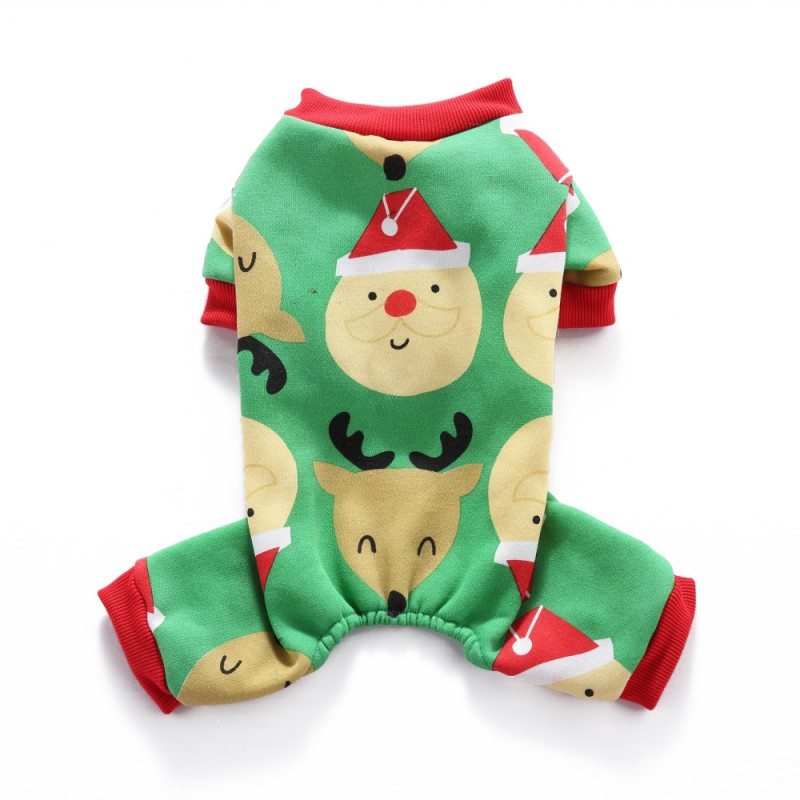 Pet-Dog-Christmas-Jumpsuit-Pajamas-Puppy-Cat-Santa-Clothes-Xams-Costume-Apparel thumbnail 16