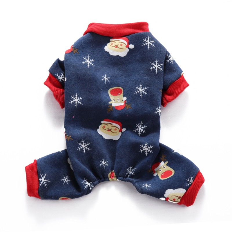 Pet-Dog-Christmas-Jumpsuit-Pajamas-Puppy-Cat-Santa-Clothes-Xams-Costume-Apparel thumbnail 18