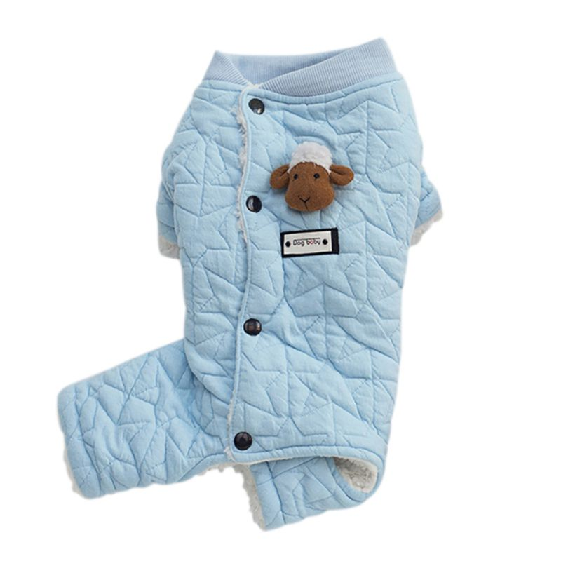 Pet-Dog-Winter-Warm-Hoodie-Jumpsuit-Coat-Puppy-Thicken-Jacket-Coat-Clothes-US thumbnail 40