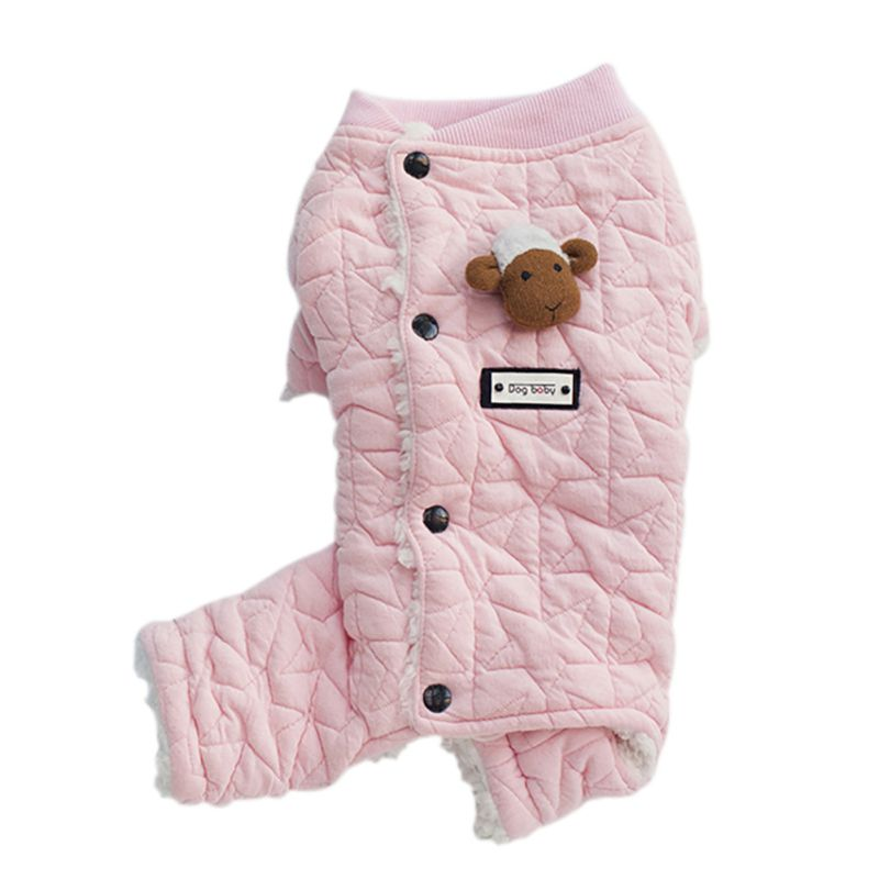Pet-Dog-Winter-Warm-Hoodie-Jumpsuit-Coat-Puppy-Thicken-Jacket-Coat-Clothes-US thumbnail 42