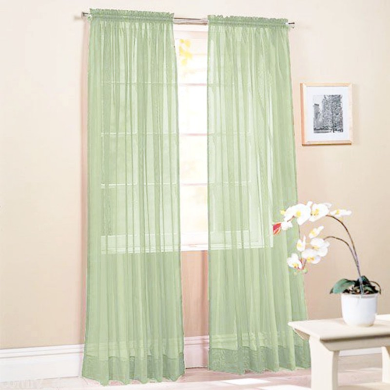 Sheer curtain window curtains scarves bedroom voile drape for Window valances for bedroom